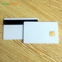Plastik PVC Kosong Magnetic Stripe Card dengan IC <span class=keywords><strong>Chip</strong></span>