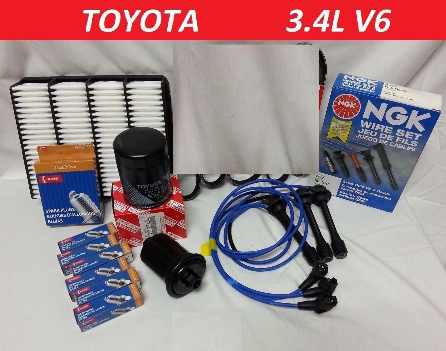 For Toyota Corolla 1.6L 4AFE Distributor Cap Rotor Spark Plugs Wire Set PCV Vlv