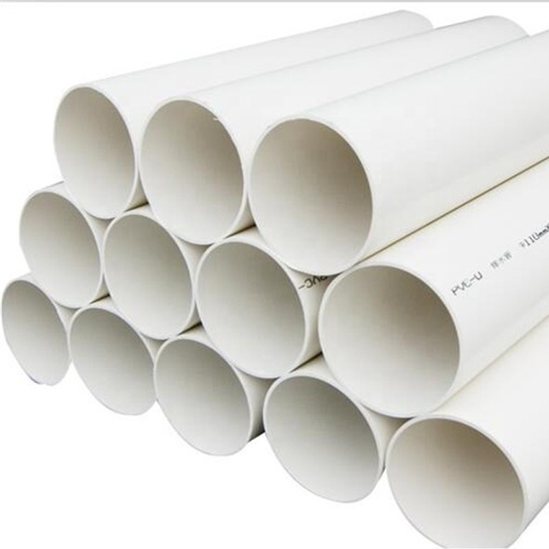 200 mm large caliber high quality long life oval plastic pipe drain away water PVC pipe list