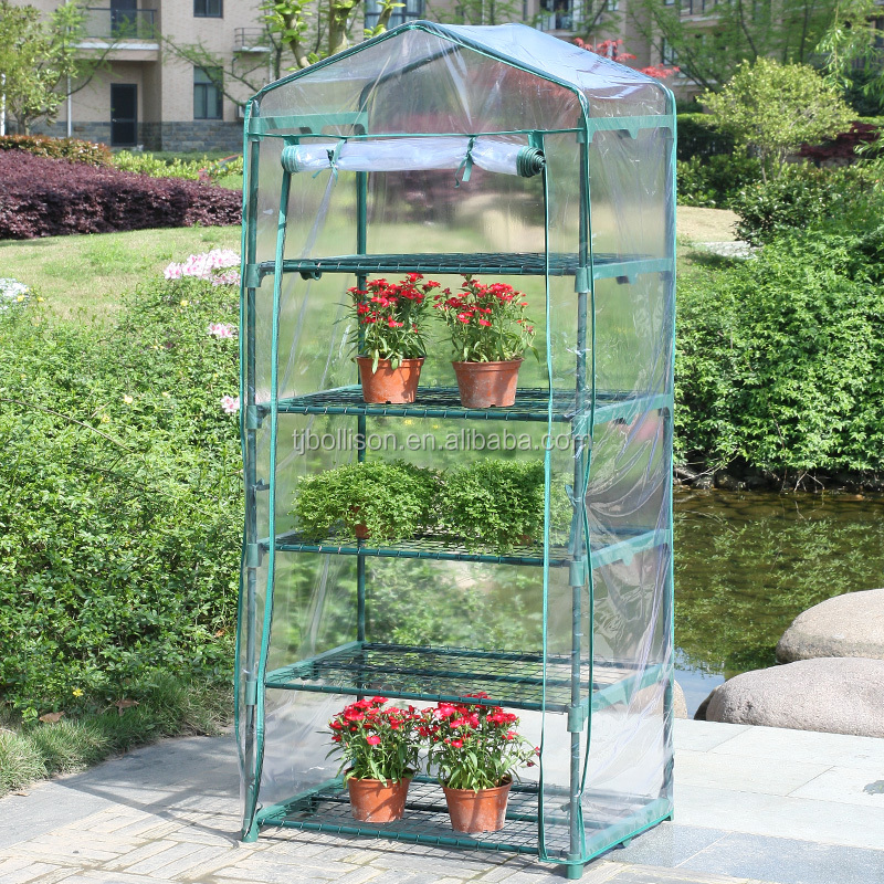 "4 Tier Mini Polyethylene Greenhouse Cover 27"" Long x 18"" Wide x 63"" High"