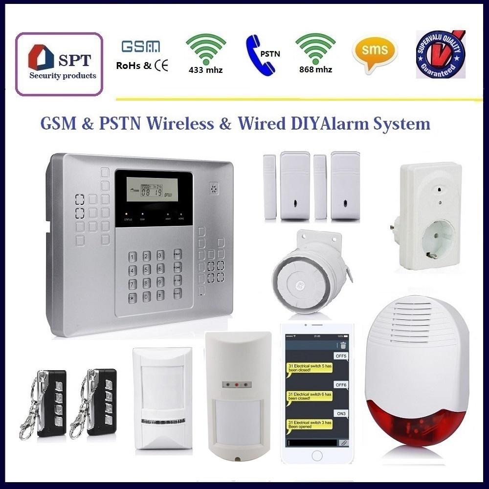 מודיעין מערכת אוטומציה ביתית gsm אזעקה , אלחוטית אזעקה לבית , אזעקת סירנה CI-83
