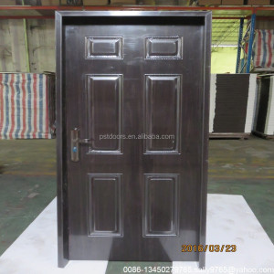 nice american steel pre hung door,steel interior doors made in Guangzhou with SONCAP, pvc steel panel door