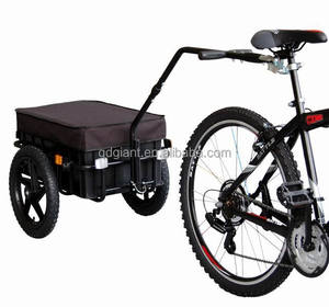 Heavy duty bike trailer cargo carrying trolley on bicycle
