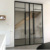simple new design Aluminum Pivot Door with Tempered Glass aluminium frame