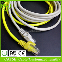 white 100 ft Feet Ethernet Network Cable Gold Plated Cat5e cat5 RJ45 Jack Copper Wire