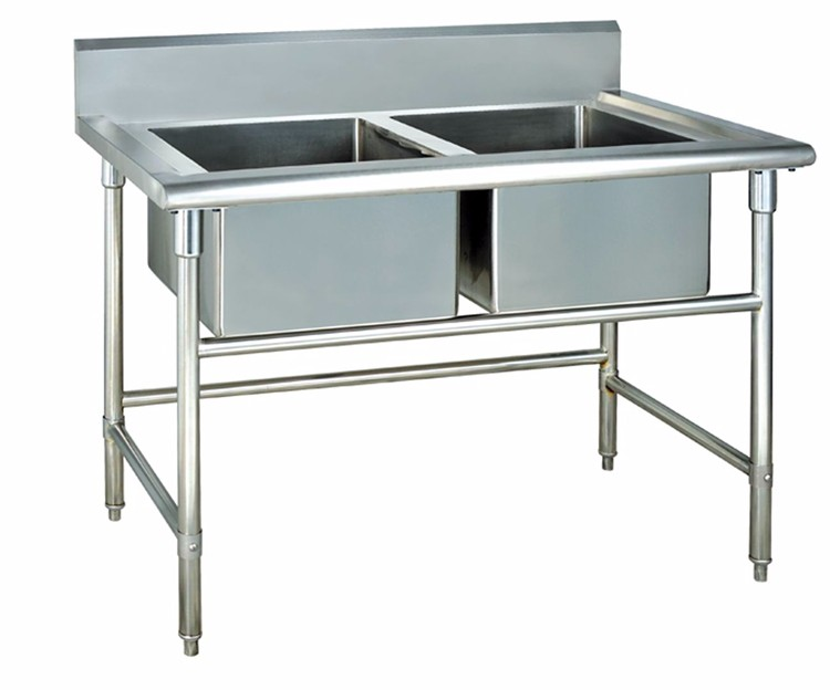 Table Type Restaurant 2 Bowl Kitchen Sink - Buy Double Bowl Sink ...