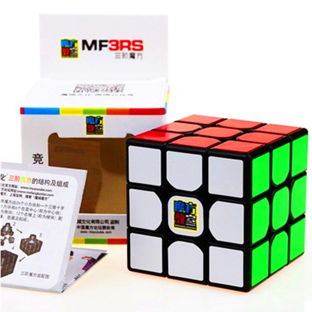 CuberSpeed Moyu MoFang JiaoShi MF3RS Black 3x3x3 Magic cube Cubing Classroom MF3RS 3X3 Black Speed cube
