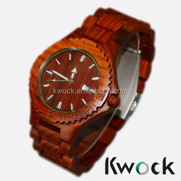 Bewell Alpha Army Wrist Watch Organic Wooden Wood Natural New