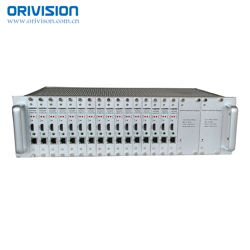 ZY-EH3016 h.265 및 h.264 hdmi video 인코더가 support 16 채널 u는-seek input 대 한 호텔 iptv solution. 3U standard chassis