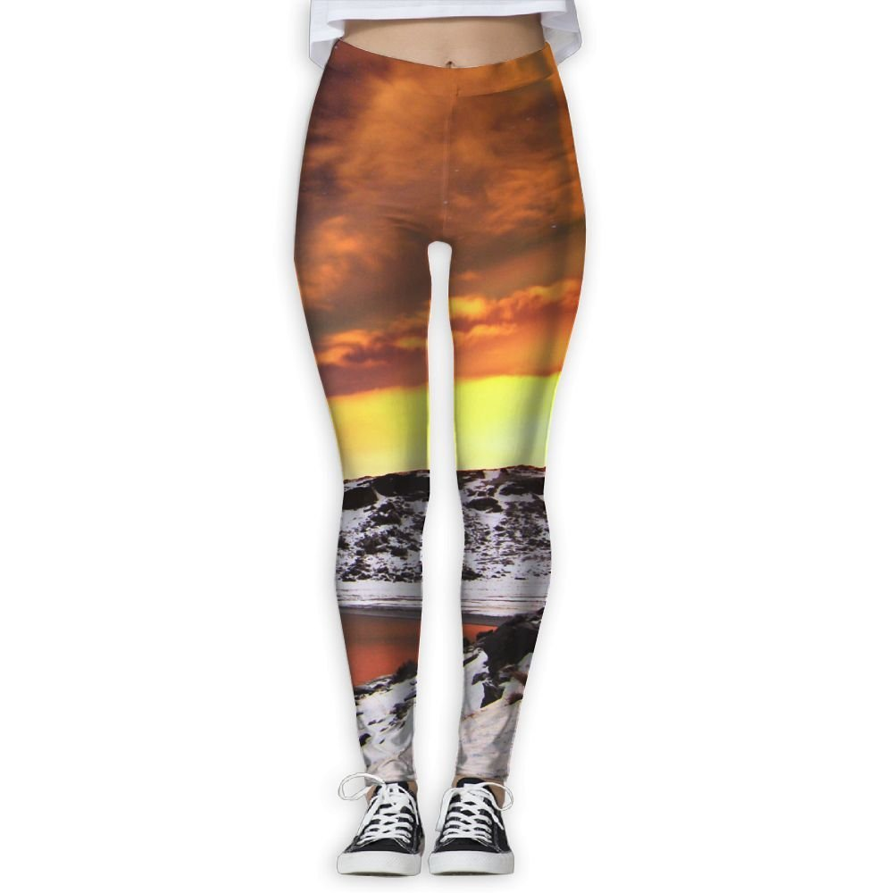 56eb574032 Get Quotations · Northern Lights In Europe Yoga Pants Digital Printed  Womenâ€s Full-Length Yoga Workout