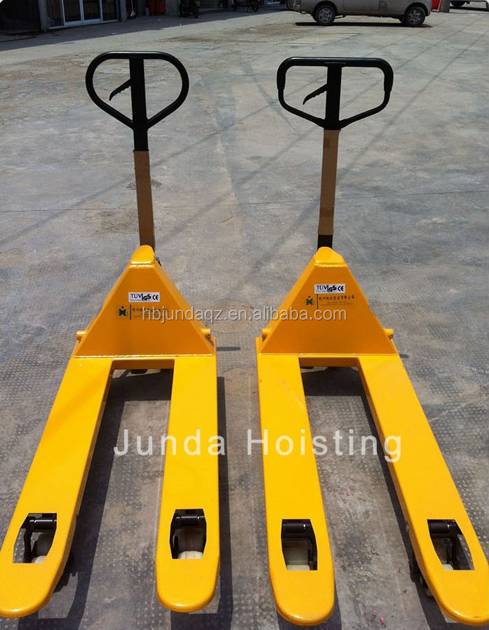 China manual pallet truck 2500kg hydraulic hand pallet jack fork lifter for sale