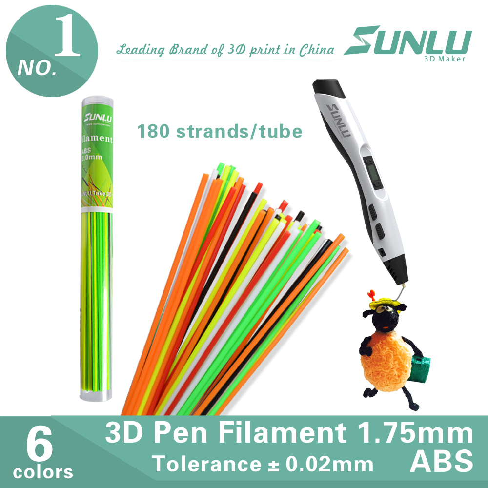 RoHS & REACH ABS 3.0 1.75 3d linear straight filament ABS for pen
