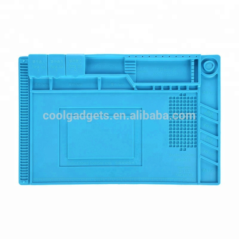 Heat Insulation Silicone Pad Repair Anti Static Desk Mat Work Platform Magnetic