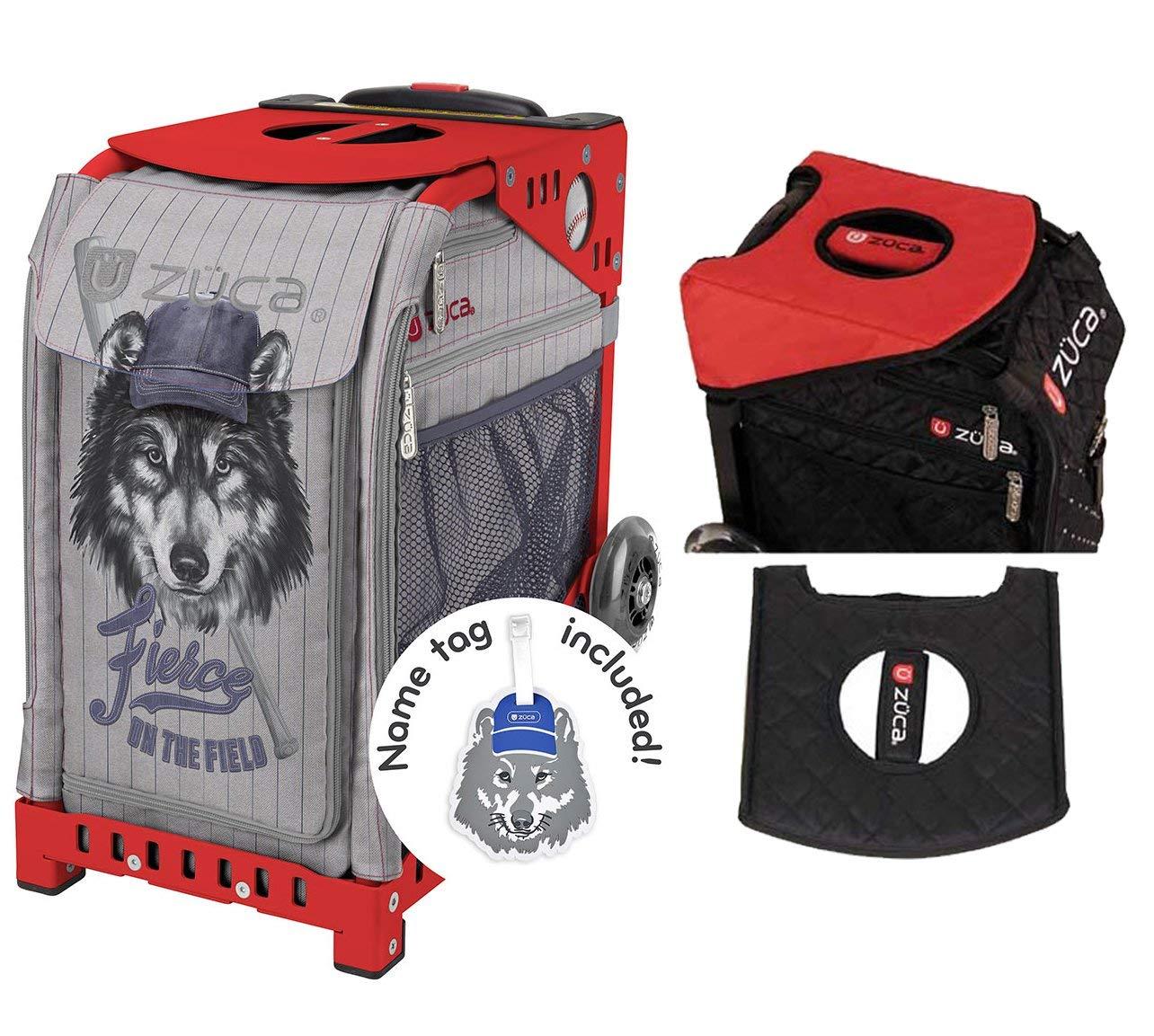 ZUCA Fierce On The Field Sport Insert Bag & Red Frame + Gift Seat Cushion