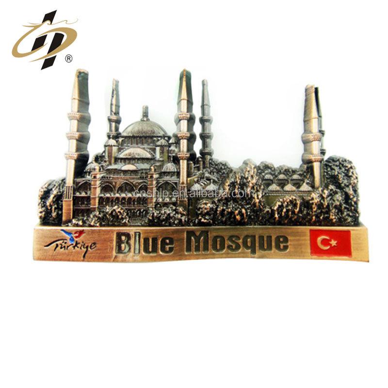 Factory direct supply high quality antique 3D souvenir tourist metal fridge magnet