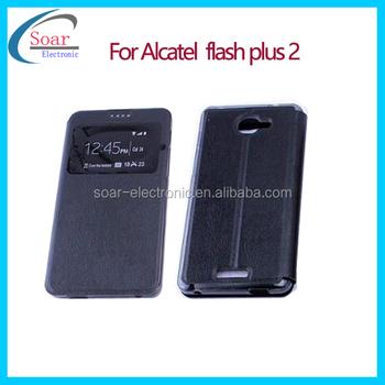 Window Flip Case For Alcatel Flash Plus 2 View Book Style Leather Case For  Alcatel Flash Plus 2 - Buy Flip Case For Alcatel Flash Plus 2,View Book