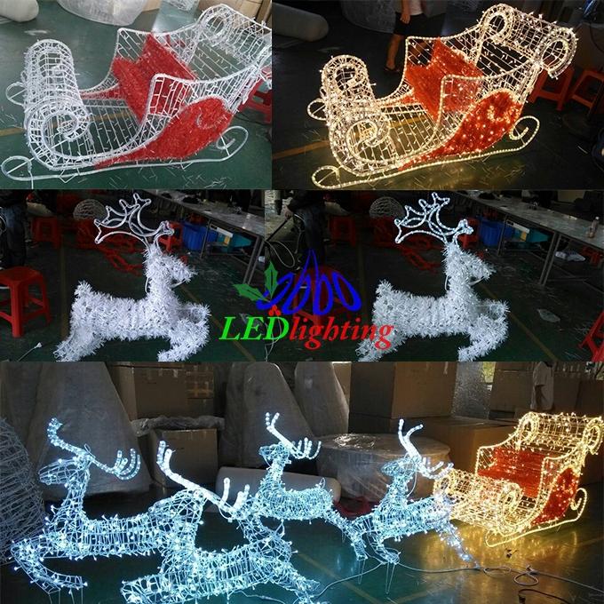 Outdoor metal reindeer sleigh christmas decoration buy