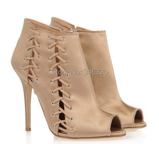 2e8012dfbe51 Get Quotations · New Design Women Autumn Fashion Peep Toe Cut-out High Heel  Ankle Boots Free Shipping
