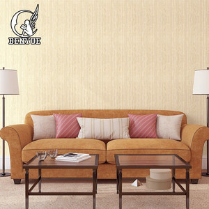 High quality Interior Decor Fireproof textile wall covering Fabric PVC wallpaper for hotel decor