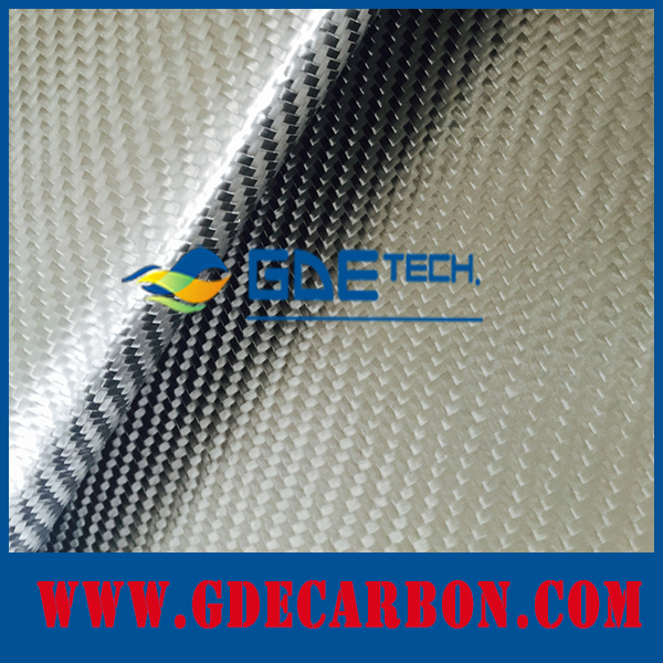 Glossy/Matte carbon fiber fabric leather TPU surface, twill/plain leather cabon fiber
