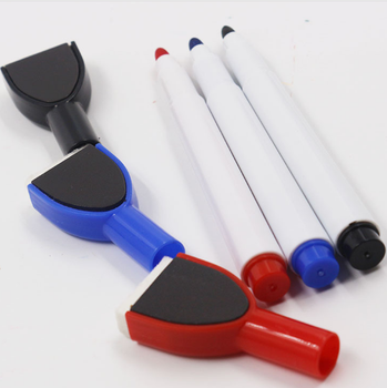 smooth writing dry erase whiteboard marker with eraser for drawing