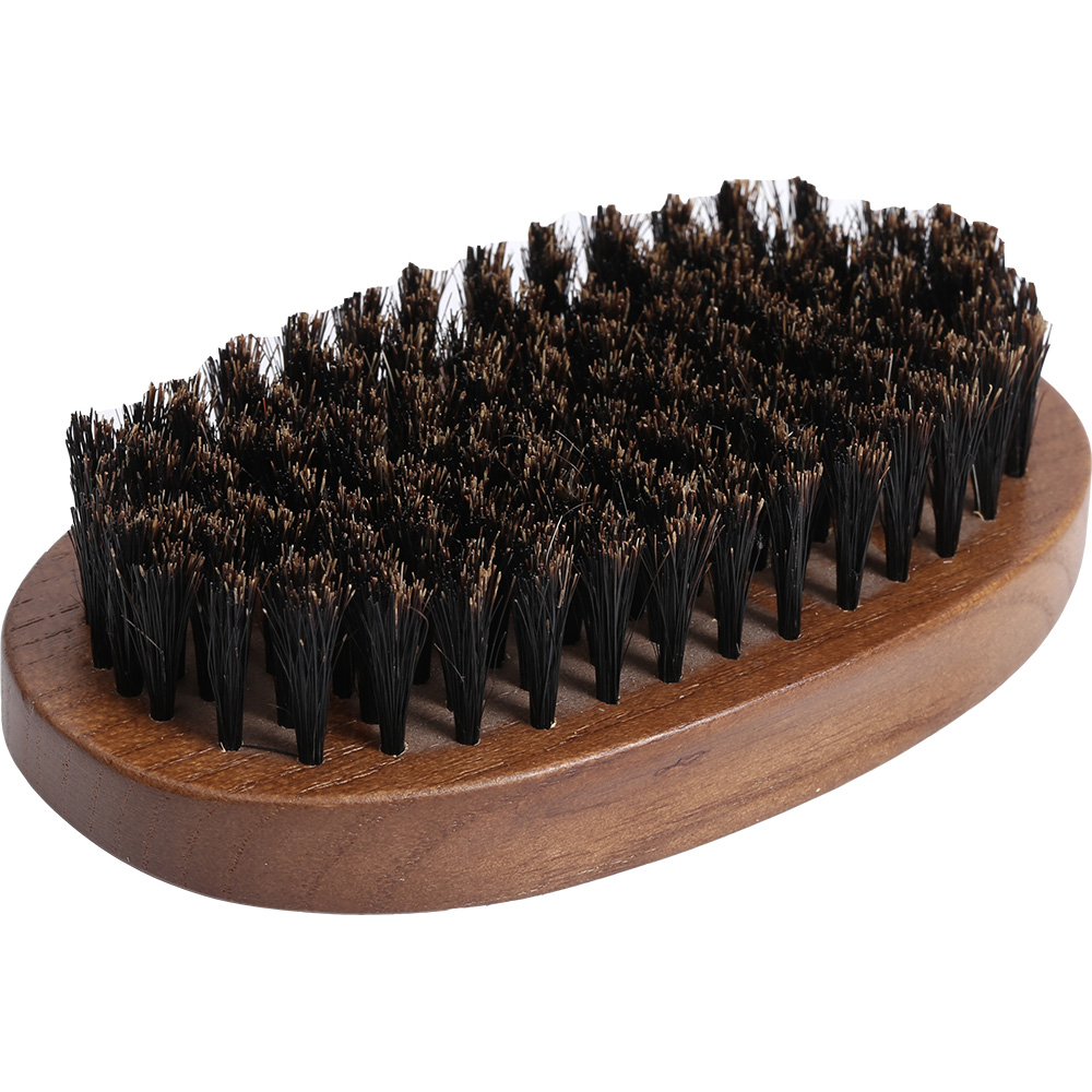 Nature Wooden Beard Boar Bristle Hair Brush Beard Oil Comb