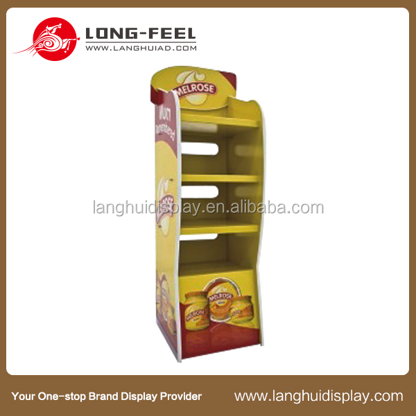 Christmas promotional potato chip cardboard display rack