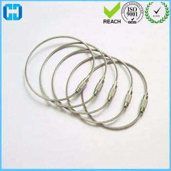 Cute Luggage Label Metal Wire Rope,String Tags Loop Key Chain - Buy ...