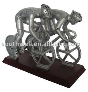 Polyresin Bicycle Figurine