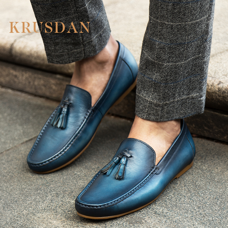 Shoes Genuine Business Leather Italian Men Fashion vOtfFqX