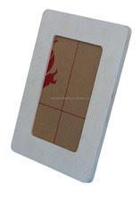 Professional manufacture white wood 3d deep shadow box photo frame