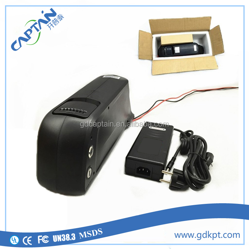 Removable dolphin case 1000w lithium ion electric bicycle battery 48v