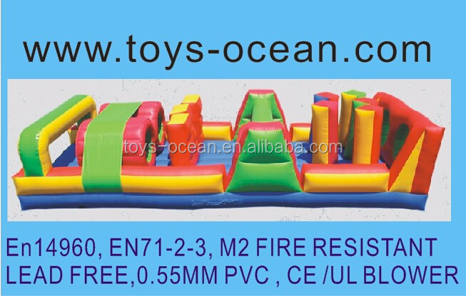 Inflatable tunnel obstacle challenge/mini obstacle game/inflatable bounce course