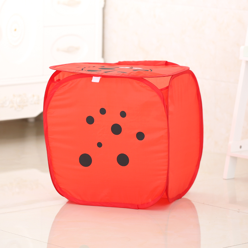 cartoon series pop up collapsible hamper laundry basket, Red green blue and pink