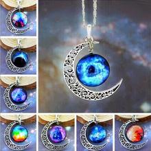 Fashion Jewelry Choker Necklace Glass Galaxy Lovely Pendant