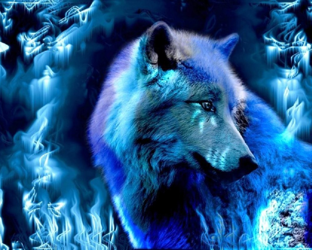 Pin Blue-fire-wolf-by-the-triforce on Pinterest