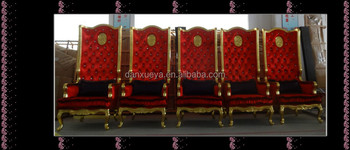 Charming Elizabeth King Style Furniture , King Crown Red Velvet Chair For Sale