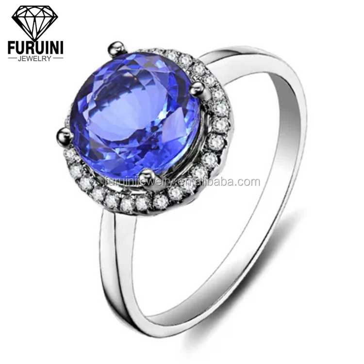 product silver ct tanzanite round peacock designer ring francarlo n