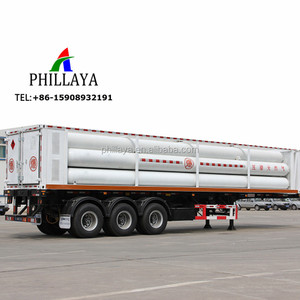 6-12 Tubes Optional CNG Hypothermia Hydrogen Tube Trailer
