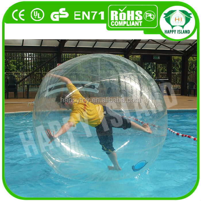 2013 HI Dia2m CE TPU hi bounce glitter water balls 100mm for sale