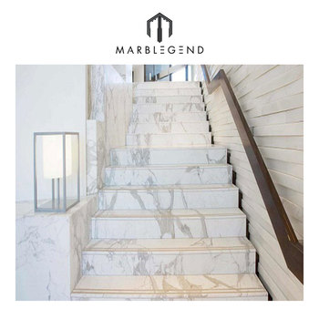 New Design Marble Stairs Inspiration Natural Stone White Marble Stairs