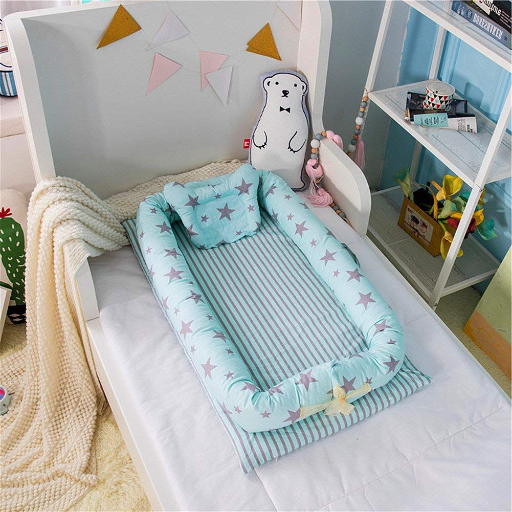 Image of: Green Baby Furniture With Get Quotations Levinis Portable Baby Cribs Bassinet For Bed Stars Green Cosleeping Cheap Diy Cribs Find Deals On Line At Alibabacom