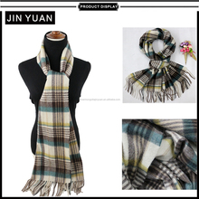 plaid fashion cashmere feel wool scarf