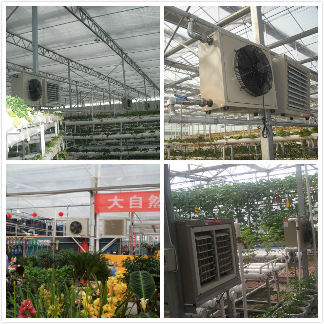 Greenhouse/poultry house hot air water heater heating fan
