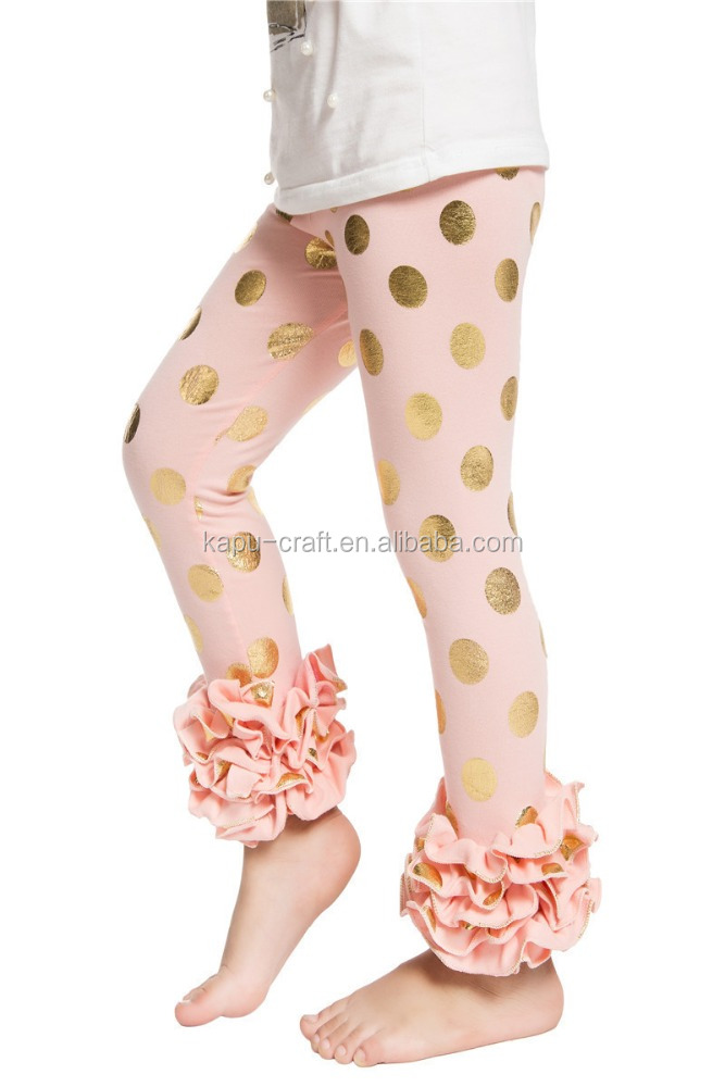 Girls Pants Triple Ruffle Pants Icing Leggings Kids Baby Pant Wear ...