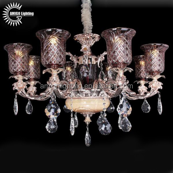 Beliebte 8 Leuchtet Antiken Messing Legierung Arme Philippinen Blume  Kristall Kronleuchter Für Wohnzimmer A70125 8