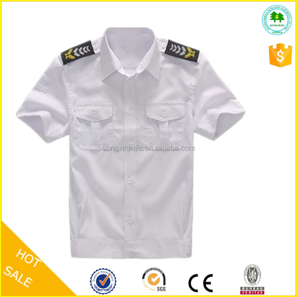 Summer wear security guard uniforms white shirts