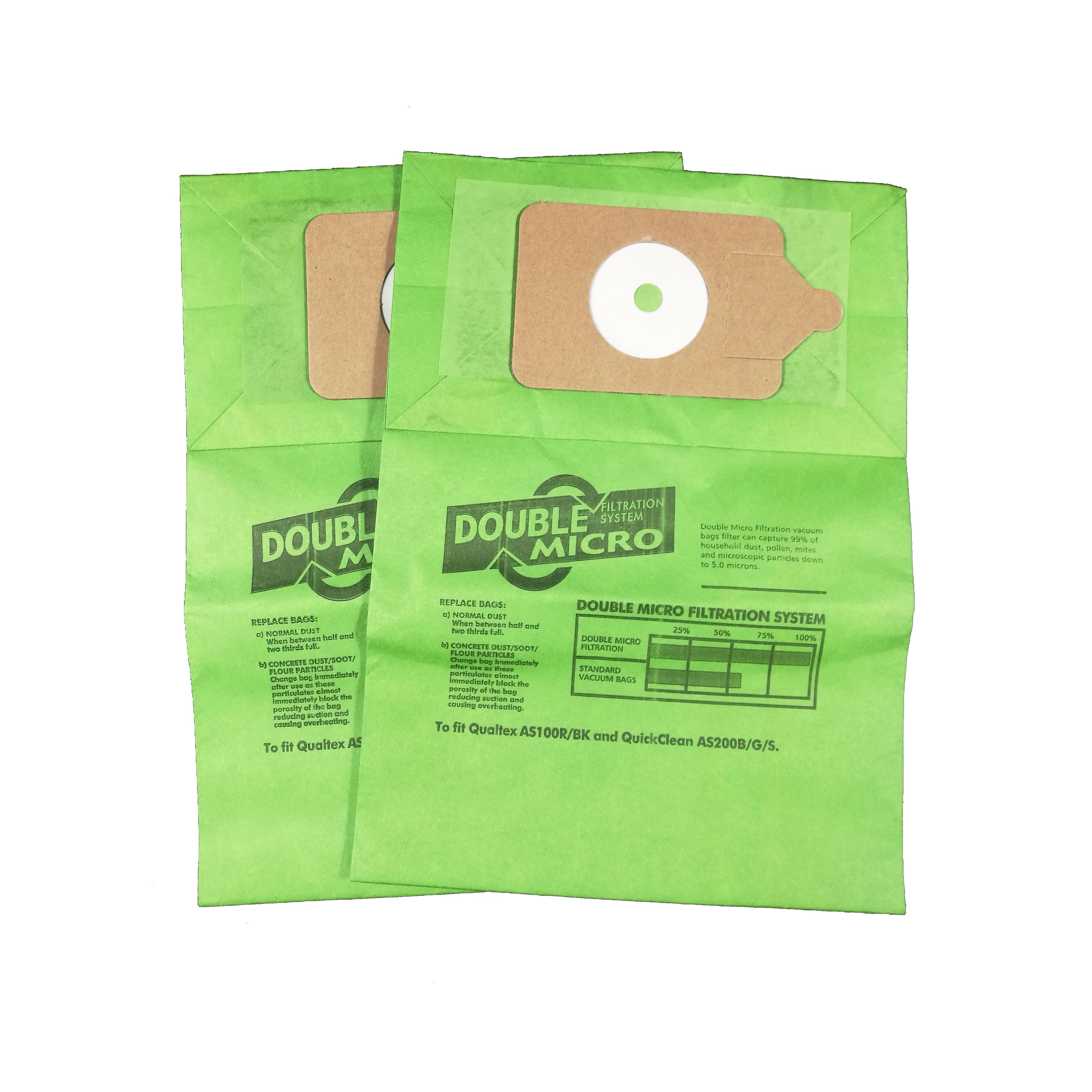 5 x Vacuum Cleaner Cloth Bags for Qualvac Plus Hoover HEPA Flo Bags Fresh
