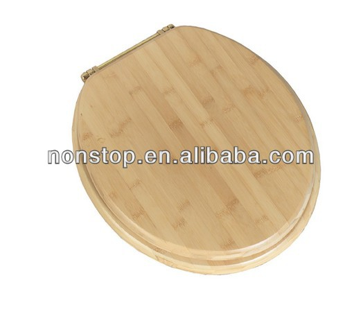 Bamboo Round Wood Toilet Seat Natural Blond