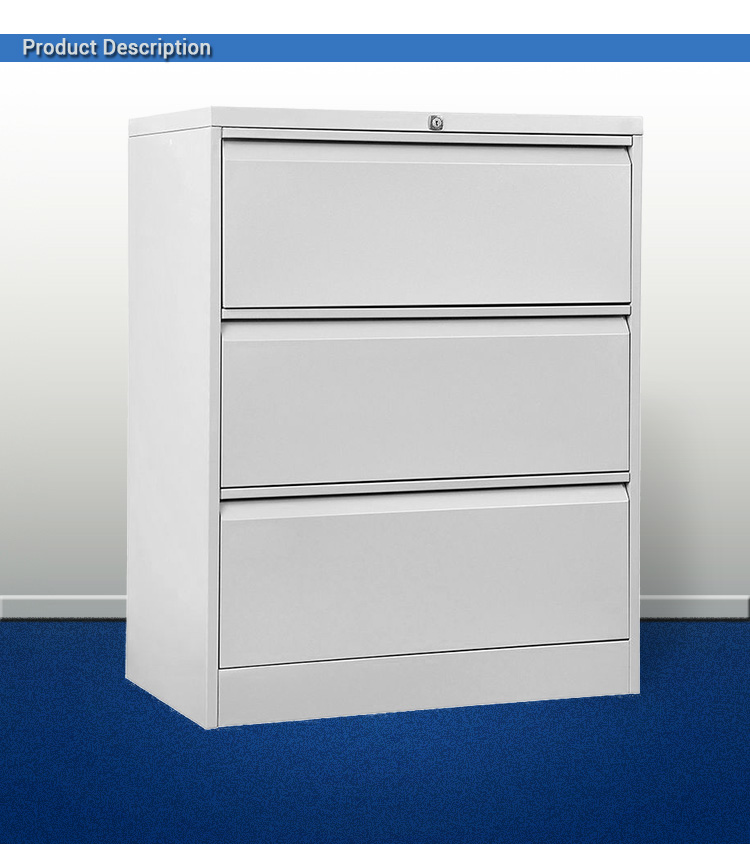 3 Drawer Horizontal Iron Legal File Cabinet